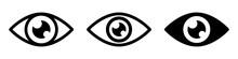 Set Eye Icons, Retina Scan Eye...