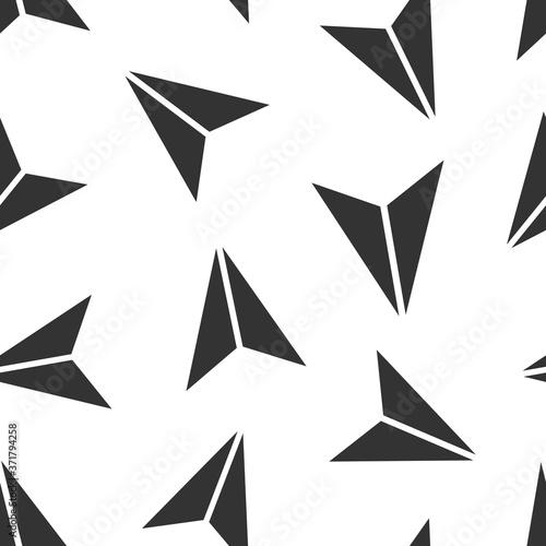 Obraz na plátně Paper plane icon in flat style