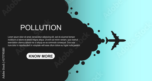 Fotografie, Obraz World globe pollution template