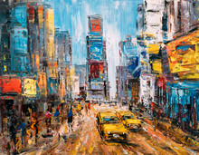 Oil Painting - City View Of Ne...
