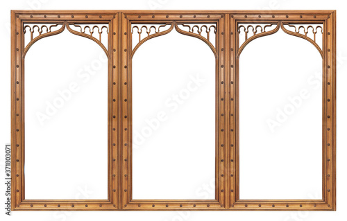 Cuadros en Lienzo Triple wooden frame (triptych) for paintings, mirrors or photos isolated on whit