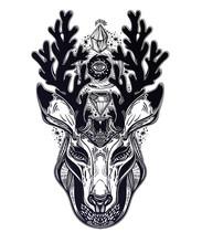 Spiritual Deer Or Fawn Magic A...