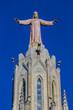 Expiatory Church of Jesus Sacred Heart (Temple Expiatori del Sagrat Cor) - Roman Catholic church and minor basilica located on summit of Mount Tibidabo in Barcelona, Catalonia, Spain.