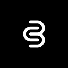 Simple C And B Letter Logos