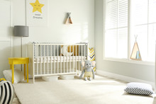 Cute Baby Room Interior With C...