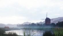 A Rural Misty Morning Landscap...