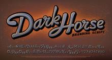 Dark Horse Script Alphabet. Th...
