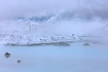 アイスランドの温泉、...