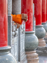 Row Of Columns In A Buddhist T...