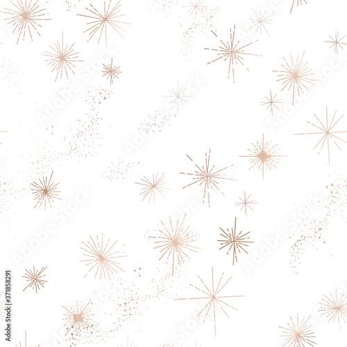 Fotografie, Obraz Starry Night Sky Trendy Seamless Pattern, Vintage Celestial Hand drawn Backgroun