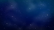 Blue space background with stars. Vector illustration