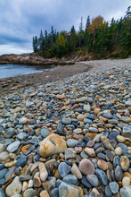 Smooth Colorful Stones, Little Hunters Beach, Acadia National Park, Maine