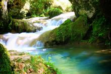 Mountain Stream Among The Moss...