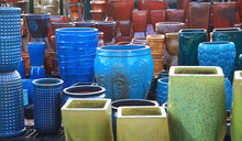 Many Colorful Plant Pots Up Fo...