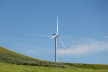 Wind Turbines Along The Highways Of Eastern Alberta Canada
