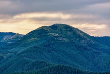 Sunset Red Mountain Fire Lookout Taken From Silver Star Mountain