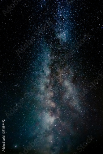 Foto space background with stars and milky way