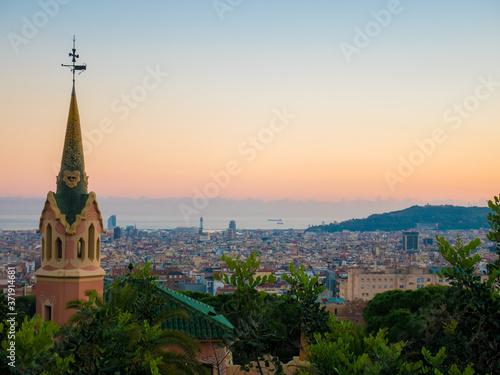 Obraz na plátně panorama of barcelona spain