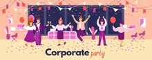 Banner Of A Corporate Party In...