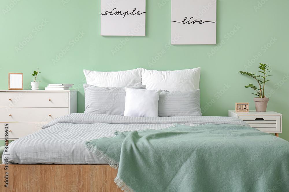 Fototapeta Interior of modern stylish bedroom