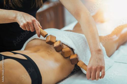 Slika na platnu Lymphatic System Stimulation with Maderotherapy Body Treatment