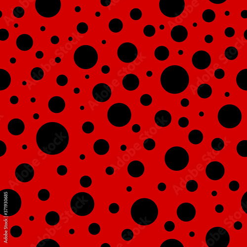 Ladybug seamless pattern Wallpaper Mural