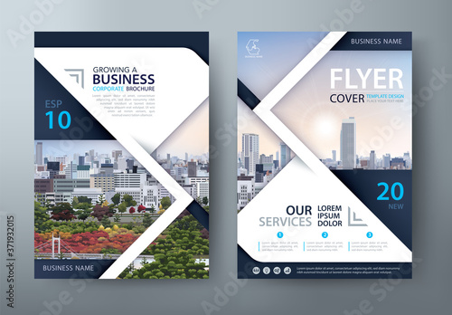 Obraz Annual report brochure flyer design, Leaflet presentation, book cover templates, layout in A4 size. vector. - fototapety do salonu