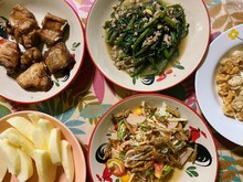 Thai Northern Food Mix Vegetables Set.