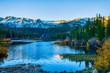 Mammoth Lakes Basin, California. Twin Lakes in a beautiful fall sunny day