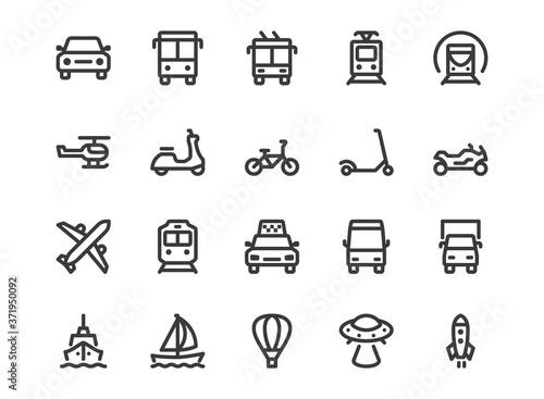 Transport line icon Fototapet