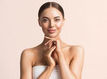Healthy Skin Woman Natural Make Up Beauty Face Closeup
