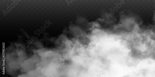 Fog or smoke isolated transparent special effect Fotobehang