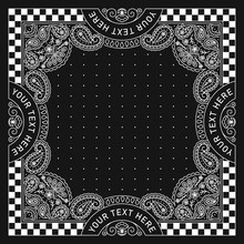 Bandana Paisley Ornament Design With Race Flag
