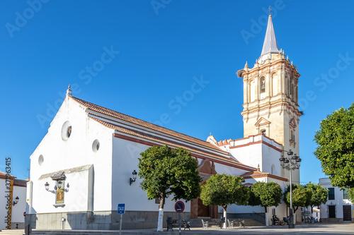 Canvastavla Parish of San Bartolome Apostol in the town of Beas, Huelva, Andalucia, Spain