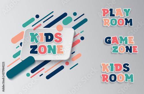 Kids zone entertainment banner Fototapet