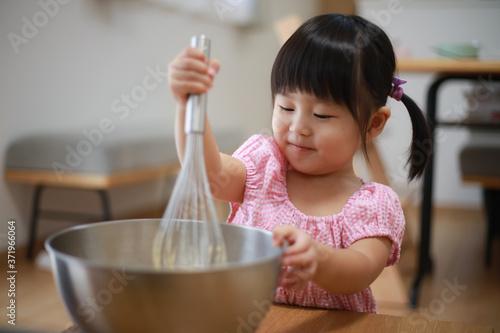 Fotomural 料理する女の子