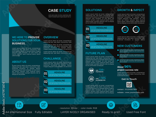 Fotografiet Case study business brochure template design