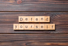 Defend Yourself Word Written O...