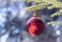 God Jul Och Gott Nytt Ar Means Merry Christmas And Happy New Year In Swedish, Danish And Norwegian.