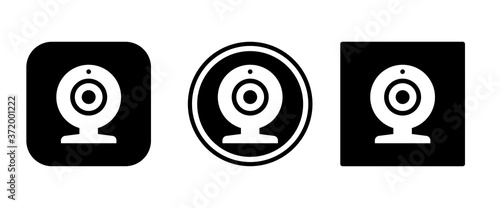 Obraz na plátně Web cam icon set . icons collection. Simple vector illustration.