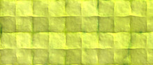 Grunge Yellow Lemon Green Watercolor Splashed Background, Crumpled Old Paper