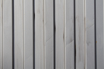 Texture of dirty gray metal fence