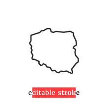 Minimal Editable Stroke Poland...