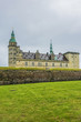External view of Kronborg castle (1690) in Helsingor, Denmark. Kronborg is one of the most important Renaissance castles in Northern Europe, known worldwide from Shakespeare's Hamlet.