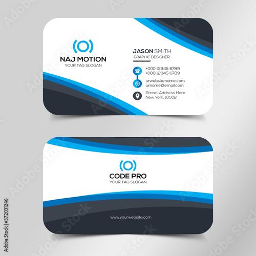 Modern business card template Fototapeta