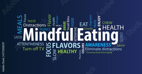 Fotografija Mindful Eating Word Cloud