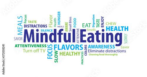 Fotografía Mindful Eating Word Cloud