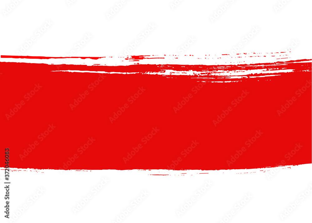 Fototapeta Background of the Republic of Belarus flag, white-red-white country national symbol of August 2020. Banner. Vector illustration