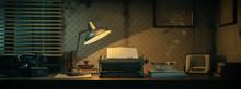 Vintage Film Noir Office Desk ...