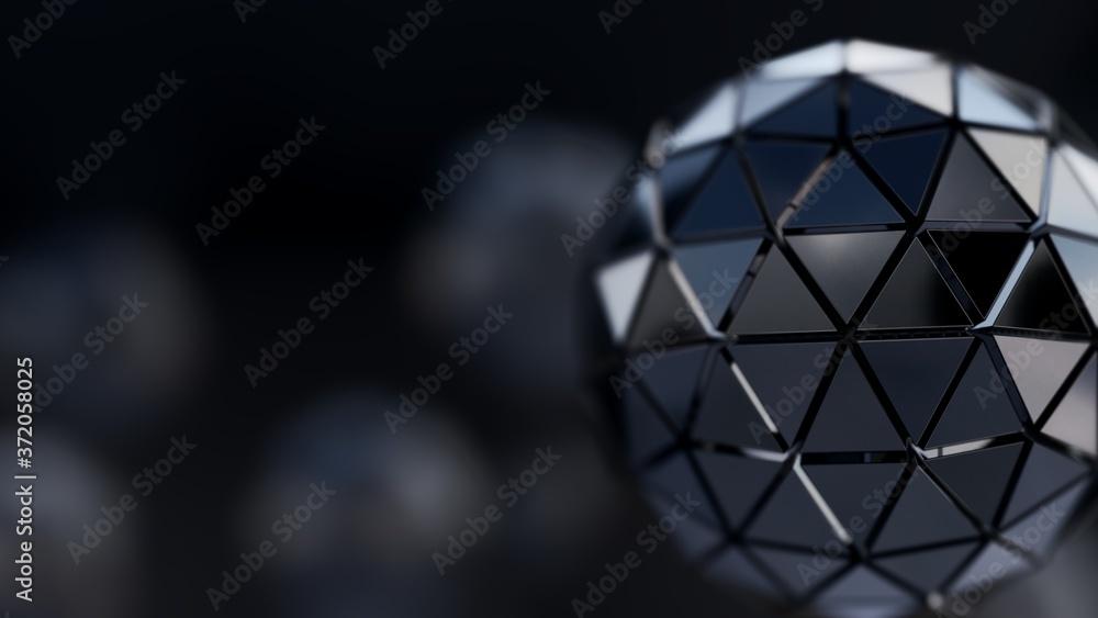 Fototapeta 3D Rendering Of Abstract Cubic Sphere Illustration